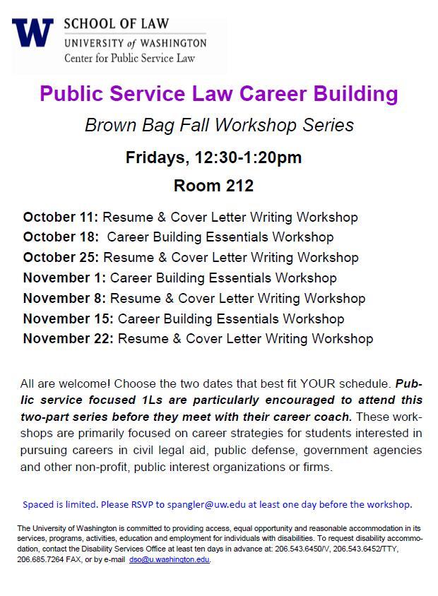 Fall PSL Career Bldg Workshop Series