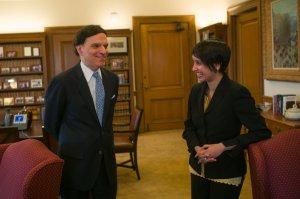 Judge Katzmann & Nisha Agarwal Photo