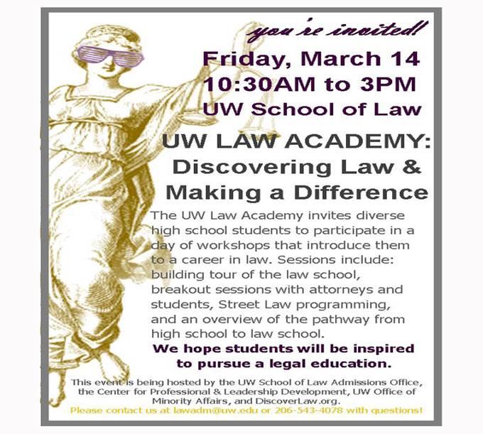 UW Law Academy Flyer