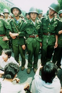 soldiers from Tiananmen