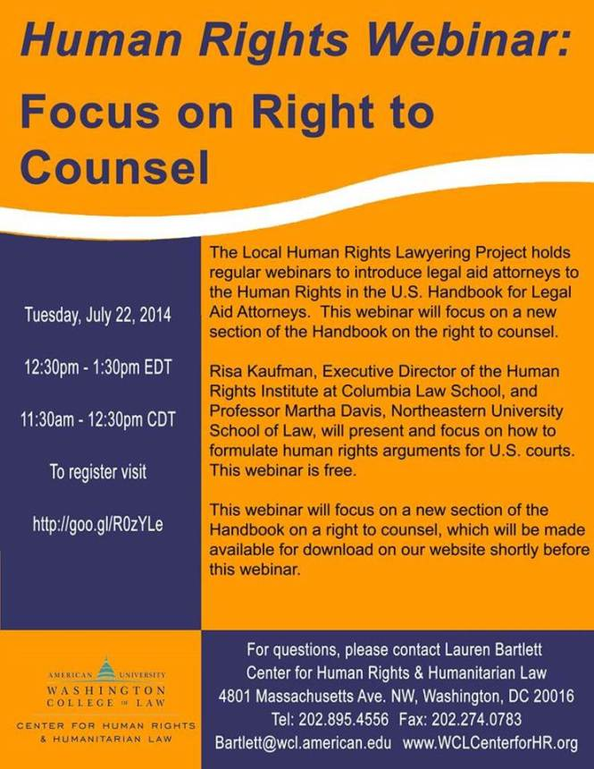 right to counsel webinar