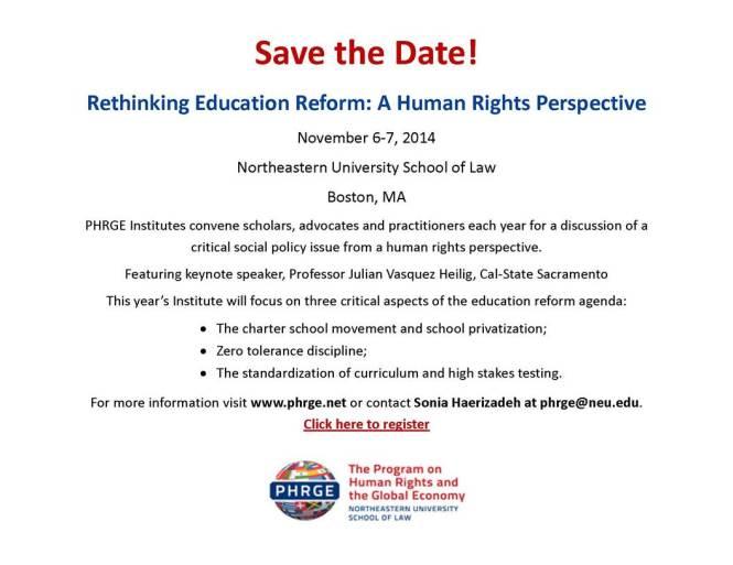 Rethinking Education Reform