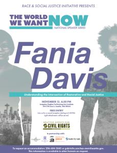 Fania Davis Flyer