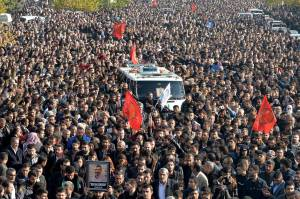 Photo of Thousands Mourning at Tahir Elci Funeral